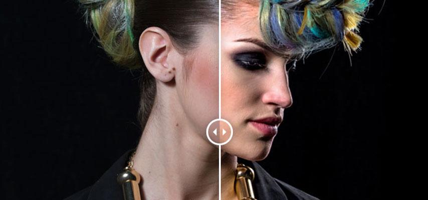 Retoque de peinado fashion de moda