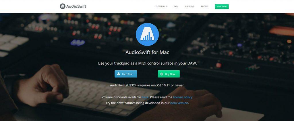 Diseño de logo AudioSwift, y sitio web