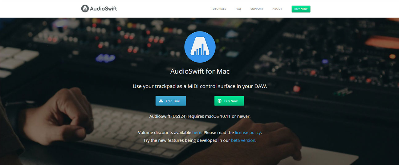 audioswift logo design and website gabriel x design