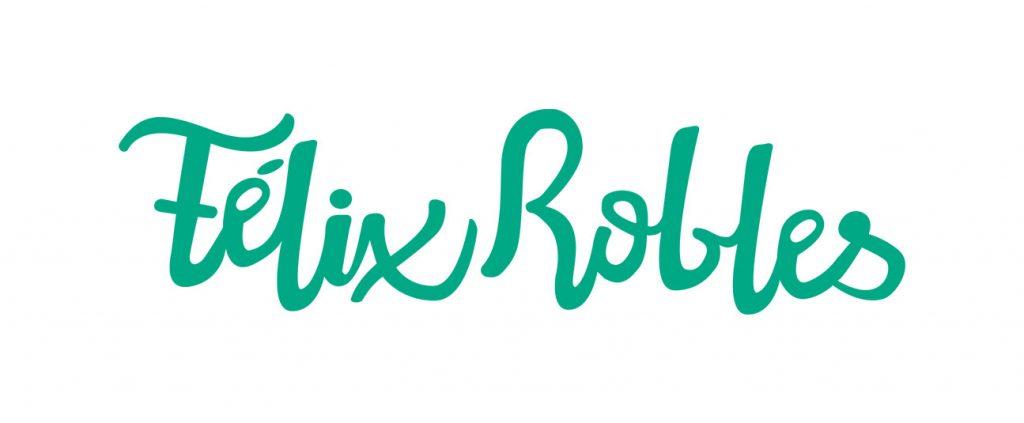 Logo tipográfico para Félix Robles